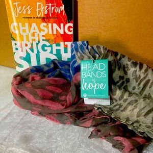 Beautiful NWT Scarf & Book from Headbands of Hope